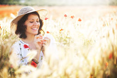 Woman in field Royalty Free Stock Photo