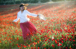 Woman in field Royalty Free Stock Images