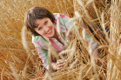 Woman in field Stock Photos