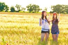 Women on field Royalty Free Stock Photo