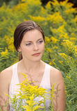 Woman in a field Stock Photography