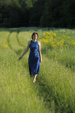 Woman in a field Royalty Free Stock Photos