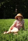 Woman in a  field Stock Images