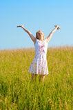 Woman in field Royalty Free Stock Photography