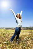 Woman in a field Royalty Free Stock Image