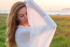 Woman sunset Stock Photos