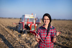 Woman in the field Royalty Free Stock Photo