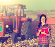 Woman in the field Stock Images