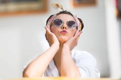 Woman of the fifties stock photography