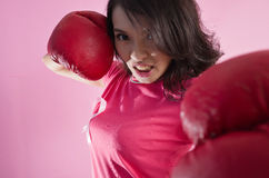 Woman fight concept stock image