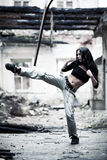 Woman fighter Royalty Free Stock Photos