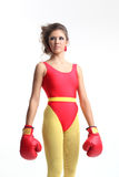 Woman fighter Stock Images