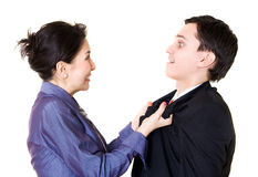 Woman fighting with man Stock Photography