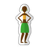 Woman figure african icon. Vector illustration design Royalty Free Stock Photo