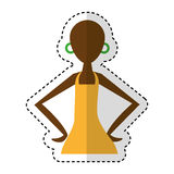 Woman figure african icon Royalty Free Stock Images