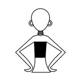 Woman figure african icon. Vector illustration design Royalty Free Stock Image