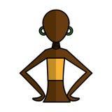 Woman figure african icon. Vector illustration design Stock Photo