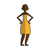 Woman figure african icon. Vector illustration design Royalty Free Stock Photography