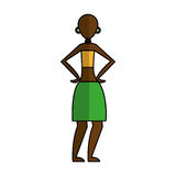 Woman figure african icon. Vector illustration design Stock Photos