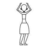 Woman figure african icon. Vector illustration design Royalty Free Stock Photos