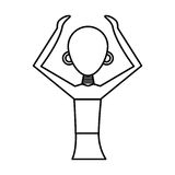 Woman figure african icon. Vector illustration design Stock Images