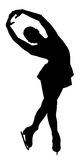 Woman figure skater. Silhouette of professional woman figure skater performing at Stars on ice show Royalty Free Stock Photos