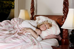 Woman finally asleep Royalty Free Stock Photo