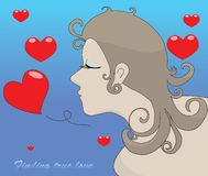Woman finding true love. Concepts for Valentines Day Royalty Free Stock Photography