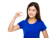 Woman with finger gap Stock Image