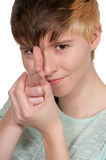 Woman Finger Gun Stock Image