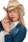 Woman Finger Gun Stock Photo