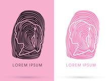 Woman Fingerprint illustration Royalty Free Stock Images
