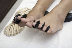 Woman fingers spa Stock Images