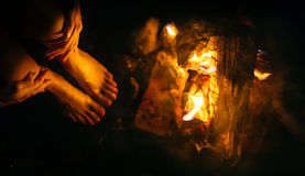 Woman fire Stock Photos