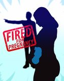 Woman Fired For Pregnancy Illustration. Woman fired for being pregnant Royalty Free Stock Photos