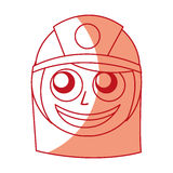 Woman firefighter avatar character icon Royalty Free Stock Image