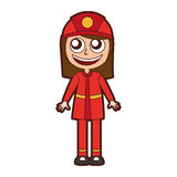 Woman firefighter avatar character icon Royalty Free Stock Photography