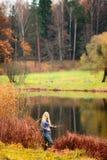 Woman Fishing Stock Photography