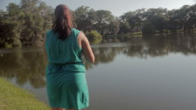 Woman Fishing Royalty Free Stock Photo