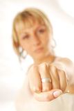 Woman fist Royalty Free Stock Photography