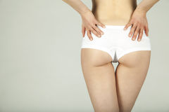 Woman with fit rear 02 Stock Photo