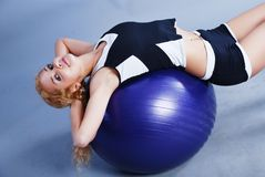 Woman in fitness Royalty Free Stock Photography