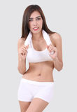 Woman and fitness Stock Images