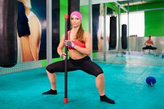 Woman fitness Stock Images