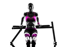Woman fitness bench press  push-ups exercises Royalty Free Stock Photography