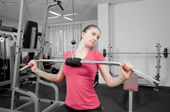Woman in fitness center Stock Photos