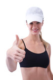 Woman at fitness center Stock Photography