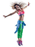 Woman fitness excercises dancer dancing Stock Photography