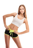 Woman. fitness exercise Royalty Free Stock Photography