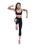 woman fitness exercises isolated Royalty Free Stock Image